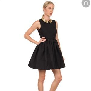 KATE SPADE Black Studded Collar Dress